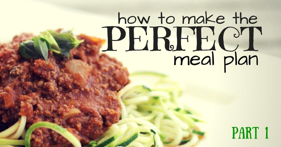 How to Make the Perfect Meal Plan Part 1